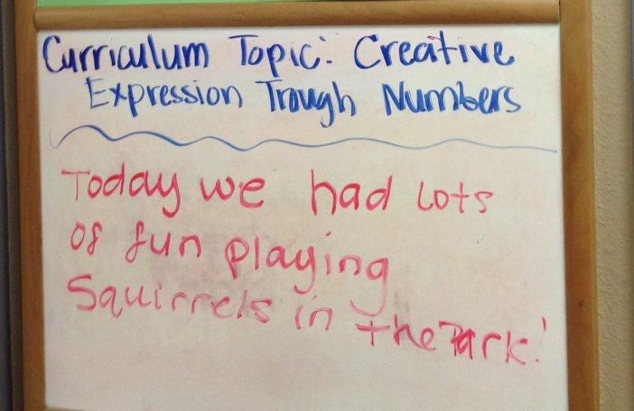2-3 vuotiaiden ryhmän opetusohjelma tänään: Luovaa ilmaisua numeroiden avulla